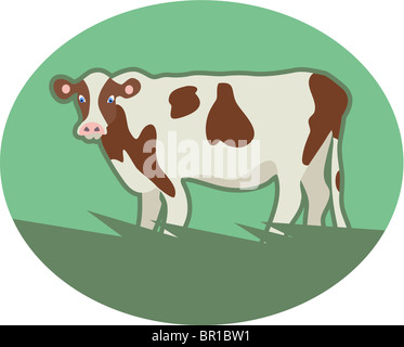 Illustration of a cow Stock Photo