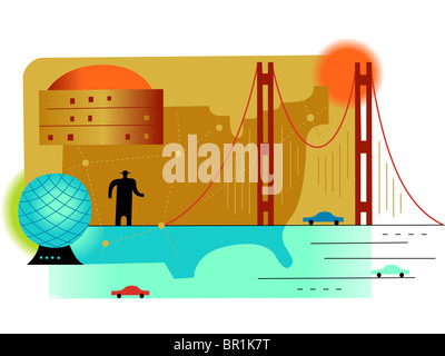 Silhouette Of USA Map United States Of America Map Stock Vector - Man in the us map