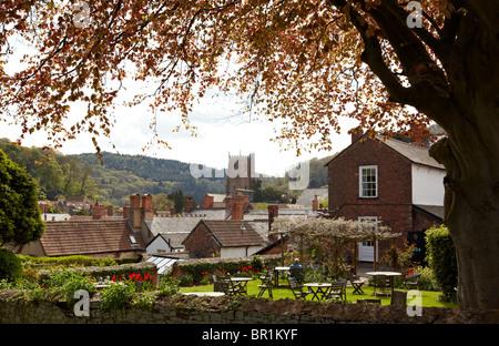 Dunster Village Exmoor Somerset UK Europe - Stock Photo