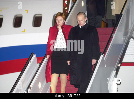 Vladimir Putin arrives at Andrews Airforce Base, - Stock Photo