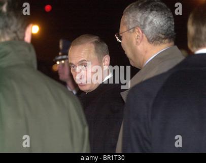 Vladimir Putin arrives at Andrews Airforce Base, - Stock Photo
