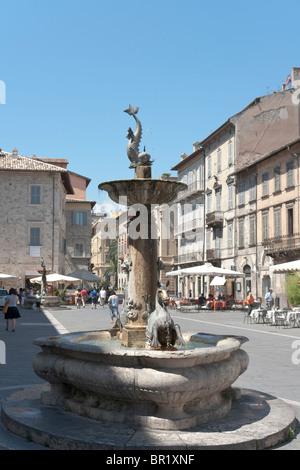 Fountain, Ascoli Piceno, Italy - Stock Photo