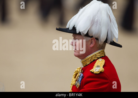 Close-up of Major General W G Cubitt. 'Trooping the Colour' 2010 - Stock Photo