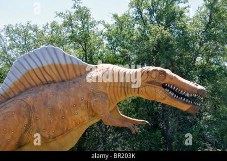 Spinosaurus, Dinosaur World, Glen Rose, Texas, USA - Stock Photo