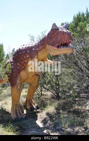 Carnotaurus, Dinosaur World, Glen Rose, Texas, USA - Stock Photo