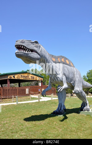 Dinosaur World, Glen Rose, Texas, USA - Stock Photo