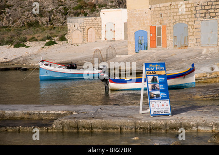 Dwerjra inland sea boats for tourist trips through the caves - Stock Photo