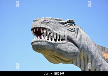 Acrocanthosaurus, Dinosaur World, Glen Rose, Texas, USA - Stock Photo