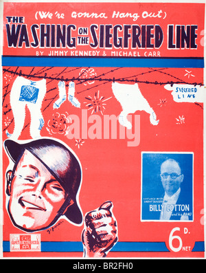 We're Gonna Hang Out the Washing on the Siegfried Line. Sheet music cover for this popular British Second World - Stock Photo