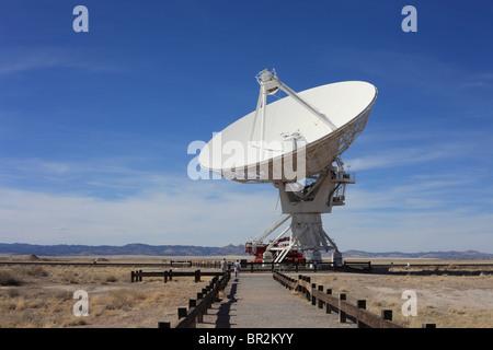 Very Large Array Radio Telescope Dish Pointed Skyward - Stock Photo