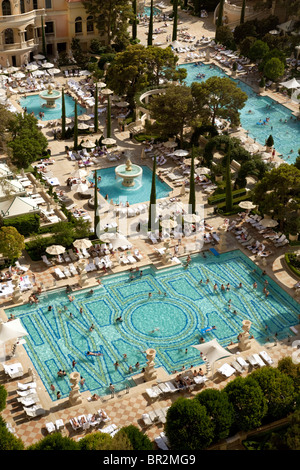 The Swimming Pools At The Bellagio Hotel Las Vegas Usa Stock Photo 31407604 Alamy