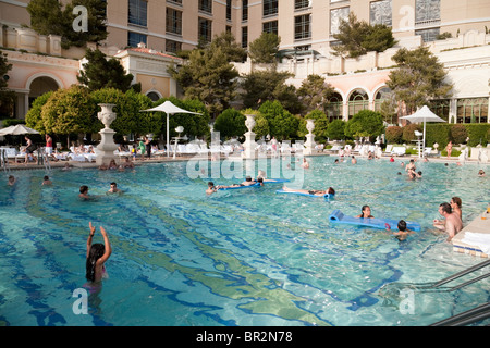 The Swimming Pools Of Bellagio Hotel Las Vegas Nevada Usa