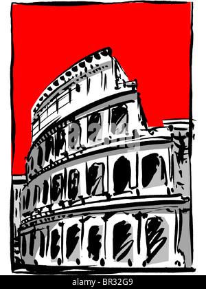 coliseum in rome - Stock Photo