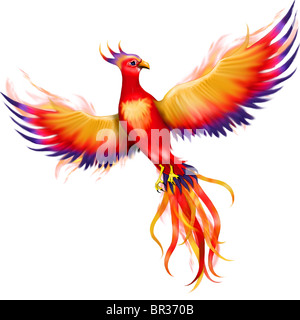 An illustration of a souring Phoenix - Stock Photo