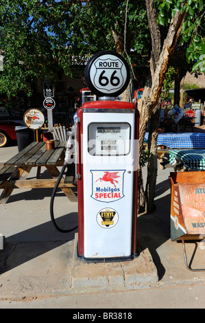 Old Gas Pumps Hackberry General Store Route 66 Arizona - Stock Photo