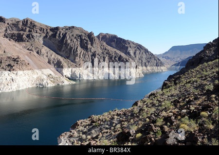 Lake Mead at the Hoover Dam Arizona Nevada - Stock Photo