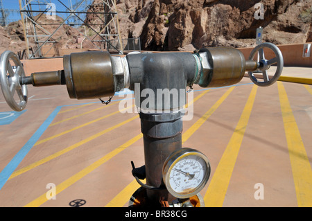 Water intake Hoover Dam Arizona Nevada - Stock Photo