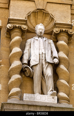 UK Oxford Statue Of Cecil Rhodes - Stock Photo
