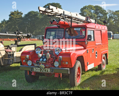 1964 Austin Gipsy Fire Appliance photographed at a rally in North Yorkshire. - Stock Photo