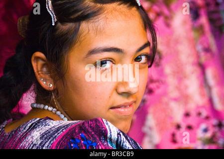 Girl in the Bazaar in Samarkand, Uzbekistan - Stock Photo