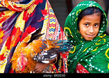 Young Muslim girl in Dhaka, Bangladesh - Stock Photo