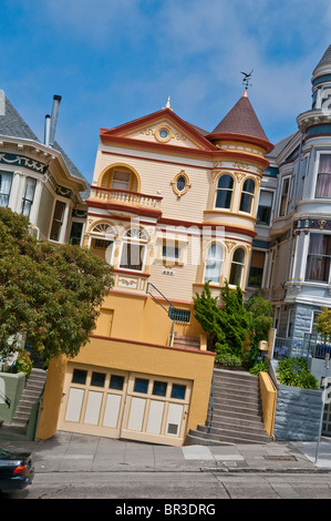 victorian style house in san francisco california usa stock photo - Victorian Style House