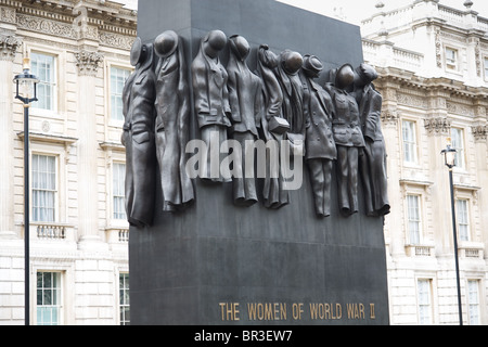 The Women of World War II monument in Whitehall, London - Stock Photo