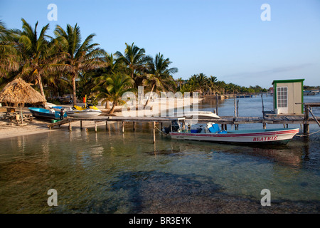 Ambergis Caye in Belize - Stock Photo