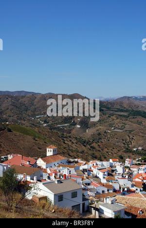 Whitewashed village (pueblo blanco), Iznate, Costa del Sol, Malaga Province, Andalucia, Spain, Western Europe. - Stock Photo