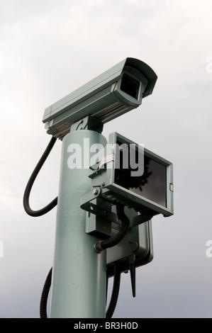 Detail of closed circuit television cctv camera - Stock Photo