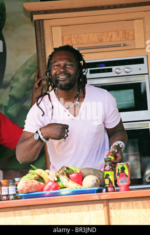 Levi Roots Cookery Demonstration, Leamington Spa Food Festival, 2010 - Stock Photo