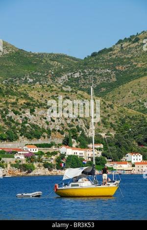 ZATON VELIKI, near DUBROVNIK, CROATIA. A view of Zaton Bay. - Stock Photo