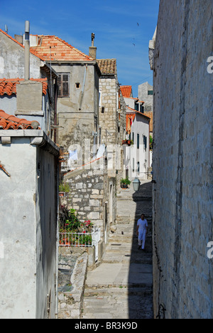 DUBROVNIK, CROATIA. A street by the walls in the old town. 2010.