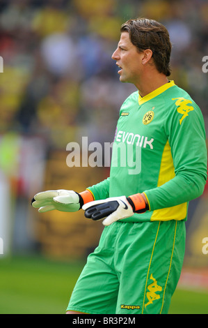 goalkeeper Roman WEIDENFELLER, Borussia Dortmund,   german Bundesliga match Borussia Dortmund vs VfL Wolfsburg - Stock Photo