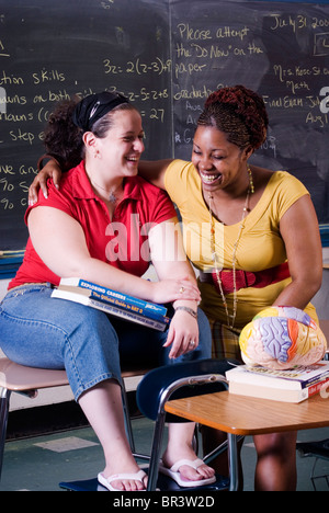 Mentoring program at Harding High School in Bridgeport CT helps seniors move on to college. - Stock Photo