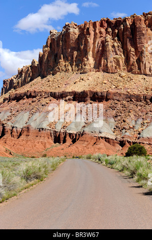 The Castle Capitol Reef National Park Utah - Stock Photo