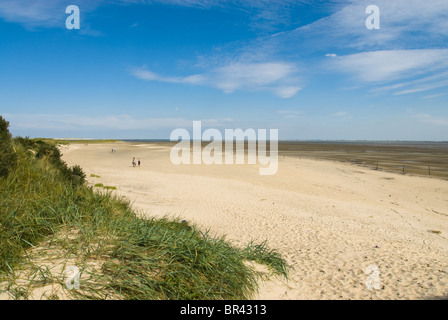 Beach and dunes on Langeoog, Germany - Stock Photo