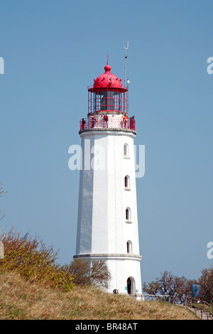 Lighthouse Dornbusch on Hiddensee Island, Germany - Stock Photo