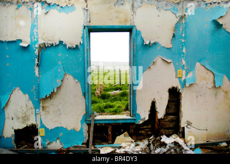 An abandoned home in South Dakota. - Stock Photo