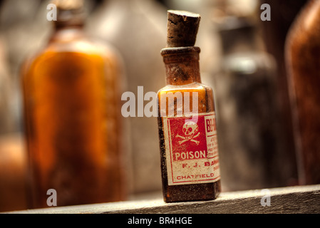 Poison bottles still-life - Stock Photo