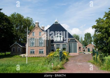 Friesland Netherlands Farm country seat manor - Stock Photo