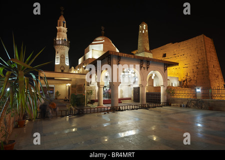 Mosque of Abu el-Haggag, Temple of Luxor, Luxor, Egypt, Africa - Stock Photo