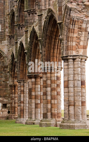 Ruins at Whitby Abbey in Whitby, North Yorkshire, England. - Stock Photo