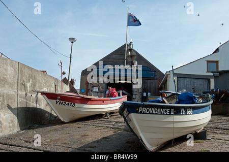 Two Fishing Boats on Slipway - Stock Photo