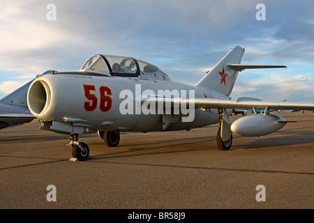 Mig 17 trainer variant - Stock Photo