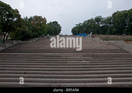 Odessa Steps featuring in film Battleship Potemkin - Stock Photo