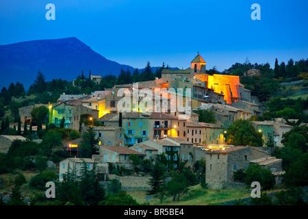 Europe, France, Vaucluse (84), perched village of Aurel - Stock Photo