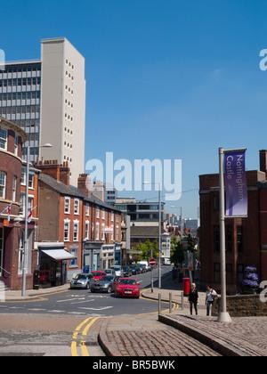 A view down Friar Lane in Nottingham City Centre, Nottinghamshire England UK - Stock Photo