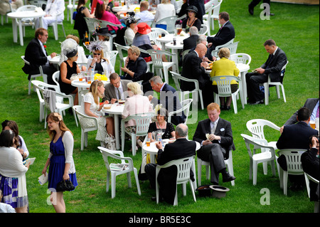 Racegoers relax during day one of Royal Ascot  - Stock Photo