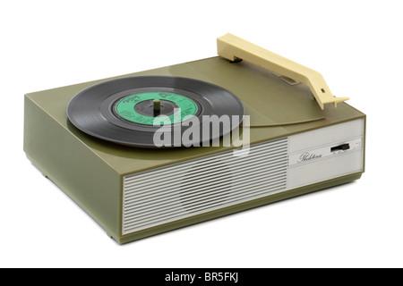 Vintage 1960's Philitina portable record player - Stock Photo